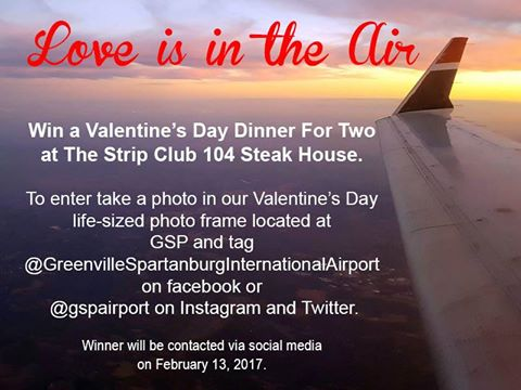 Valentine's Day Contest – GSP Airport
